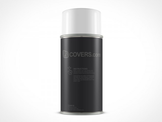 Blank Spray Can Mockup PSD Cover Action