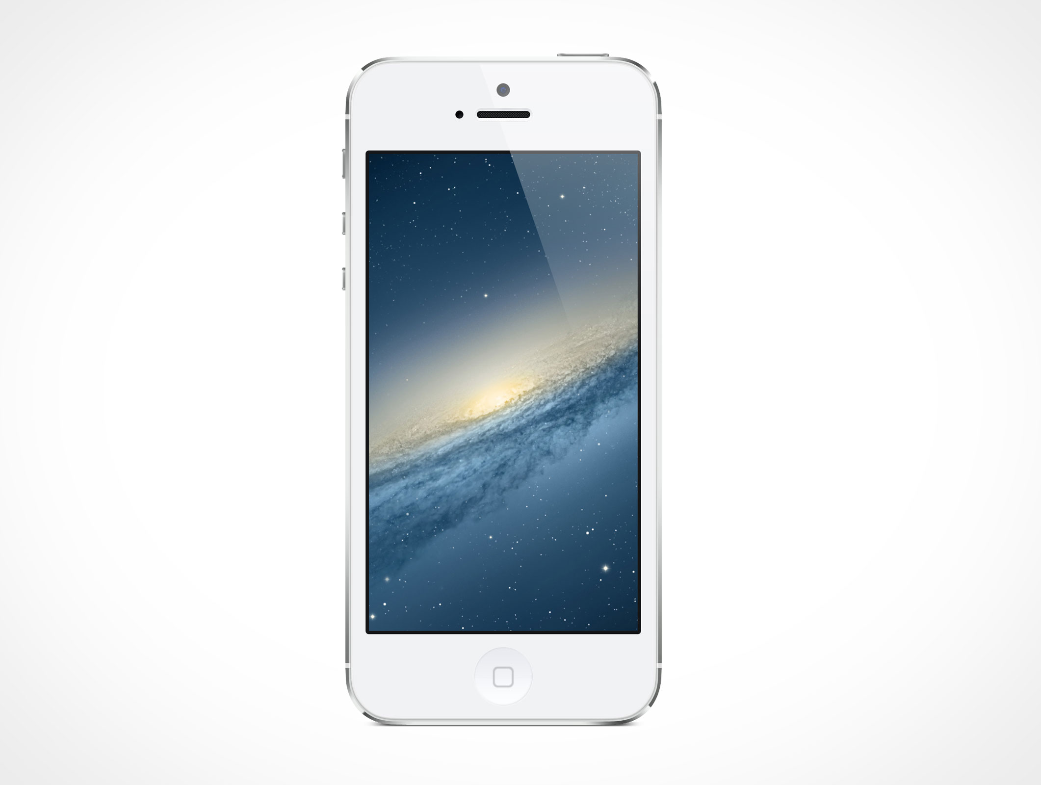 9 White Iphone 5 Psd