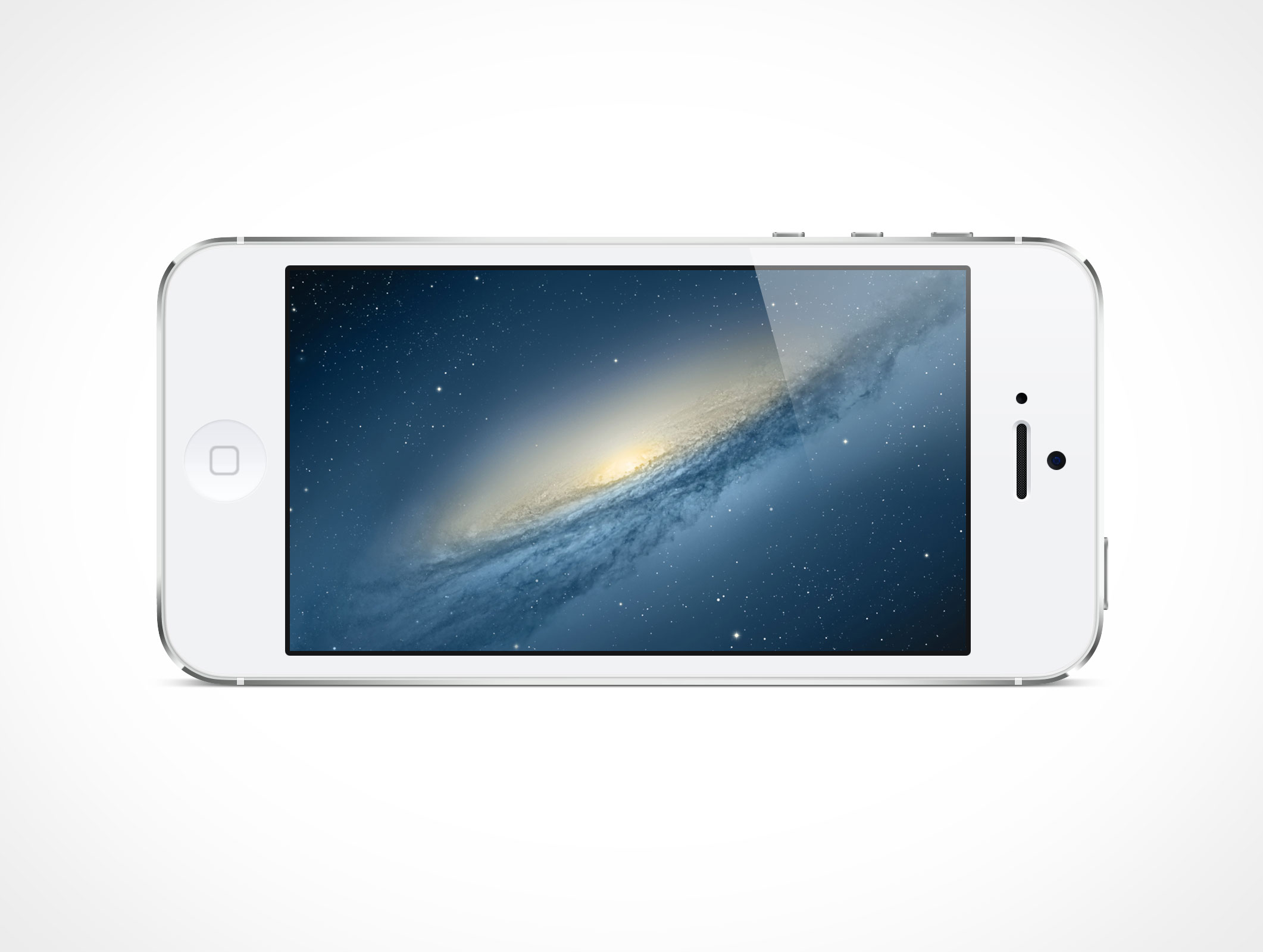 IPHONE008 White Iphone 5 Psd