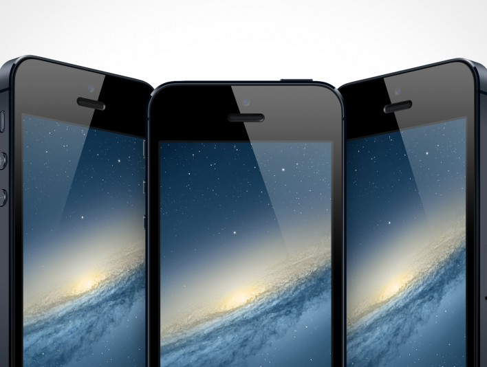 Black iPhone 5 PSD Mockup Templates Collection