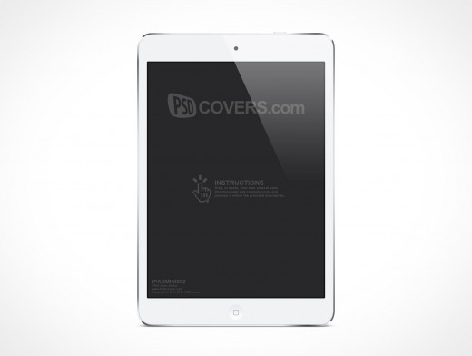PSD Mockup White iPad Mini