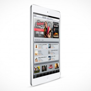 PSD Mockup White Angled iPad Mini