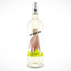 PSD Mockup Vodka or Light Wine Bottle