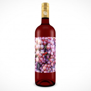 PSD Mockup Fruit Wine Bottle Cover Action
