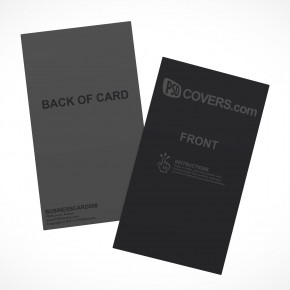 PSD Mockup Template Vertical Business Card Stack