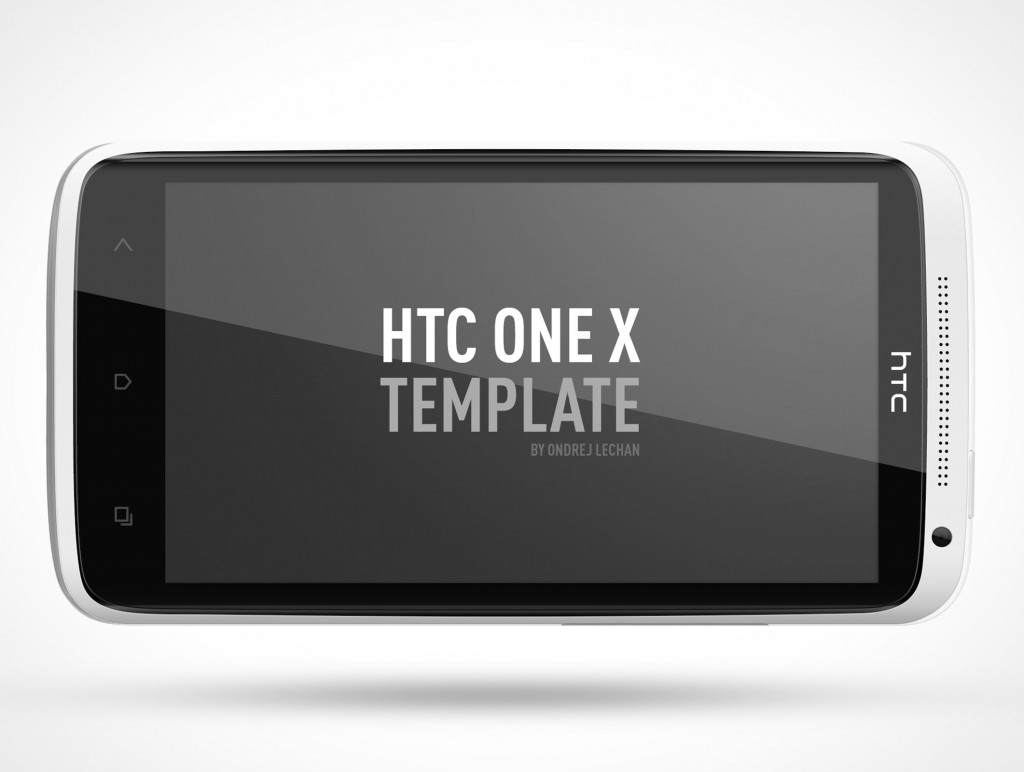 PSD Mockup Android HTC One X Landscape Template