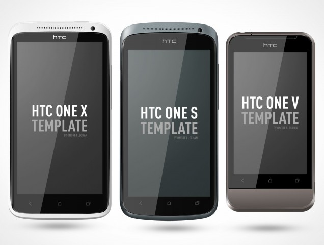 PSD Mockup Android HTC One Portrait Template