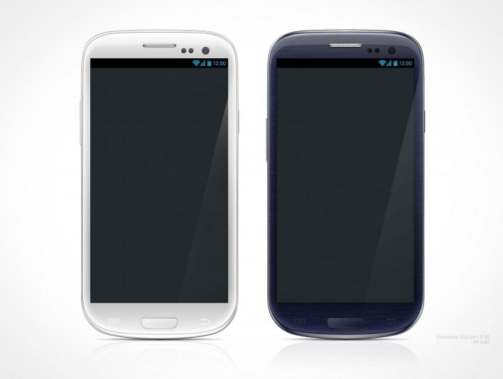 Samsung Galaxy S III Portrait PSD Mockup Template