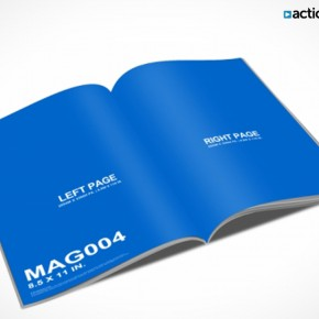 PSD Mockup Template ActionUser Magazine