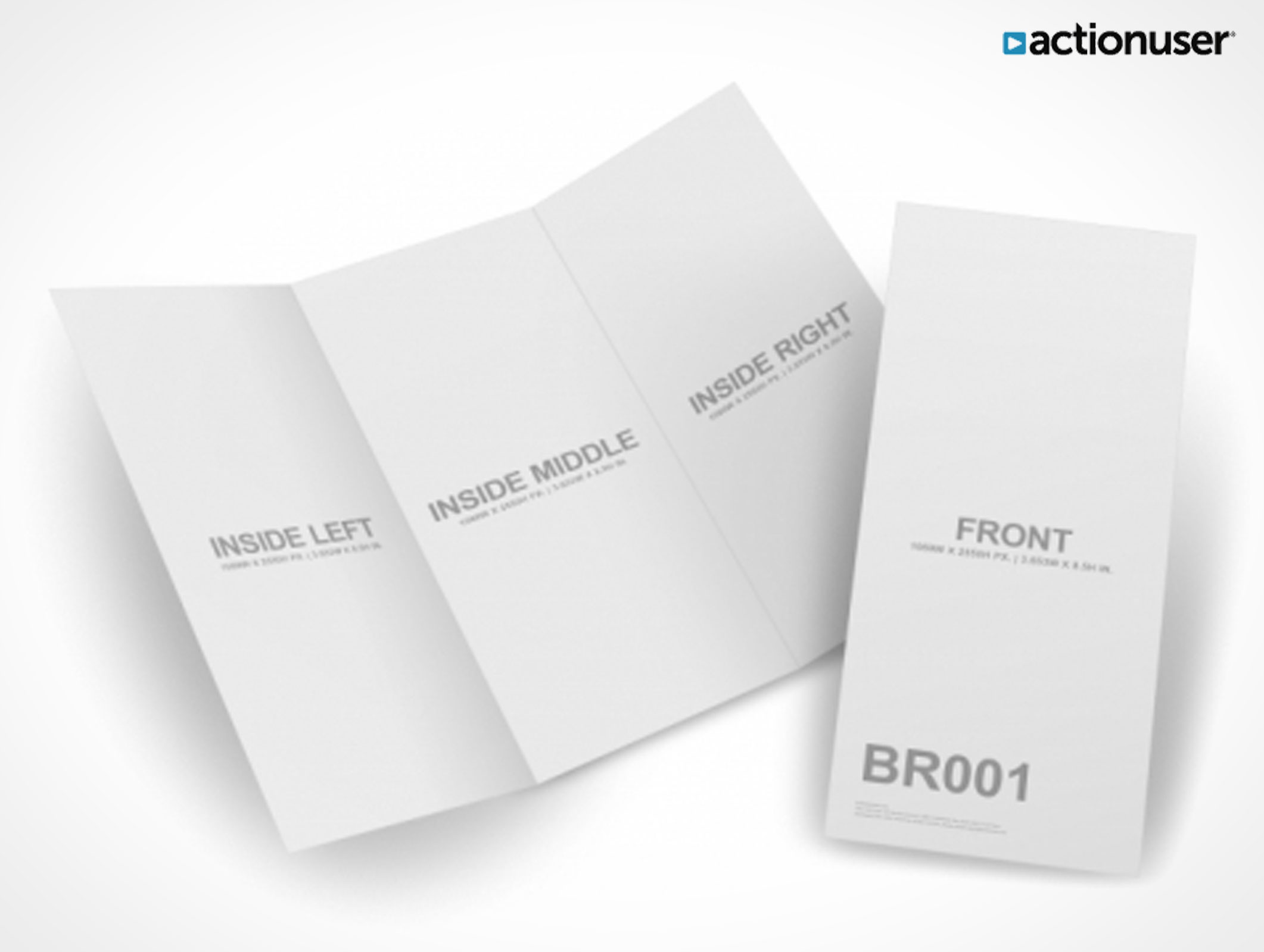 Psd mockup templates pixeden psdgraphics actionuser for Tri fold brochure template psd