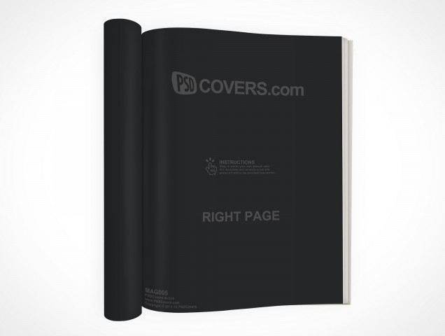 PSD Mock-Up Magazine Rolled