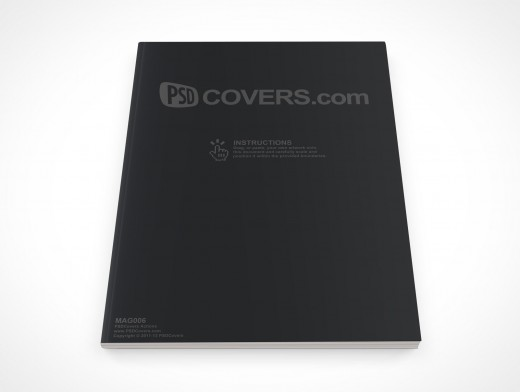 PSD Mock-Up Magazine Front Cover Action Top View