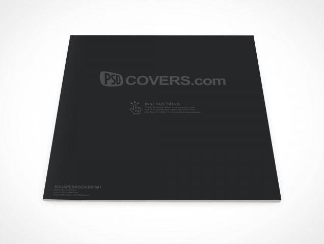 PSD Mockup Square Brochure Softcover Magazine