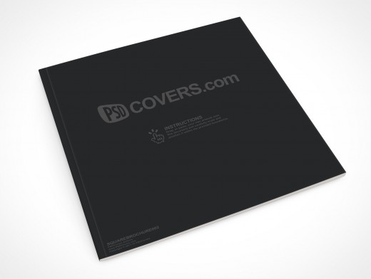 PSD Mockup Square Brochure Softcover Magazine