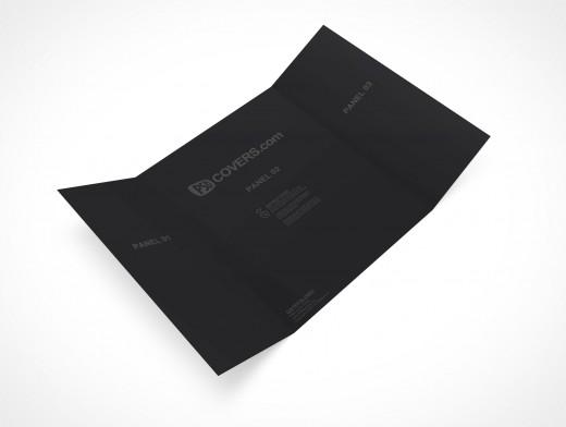 PSD Mockup 3 Panel Gate Fold Brochure Flyer