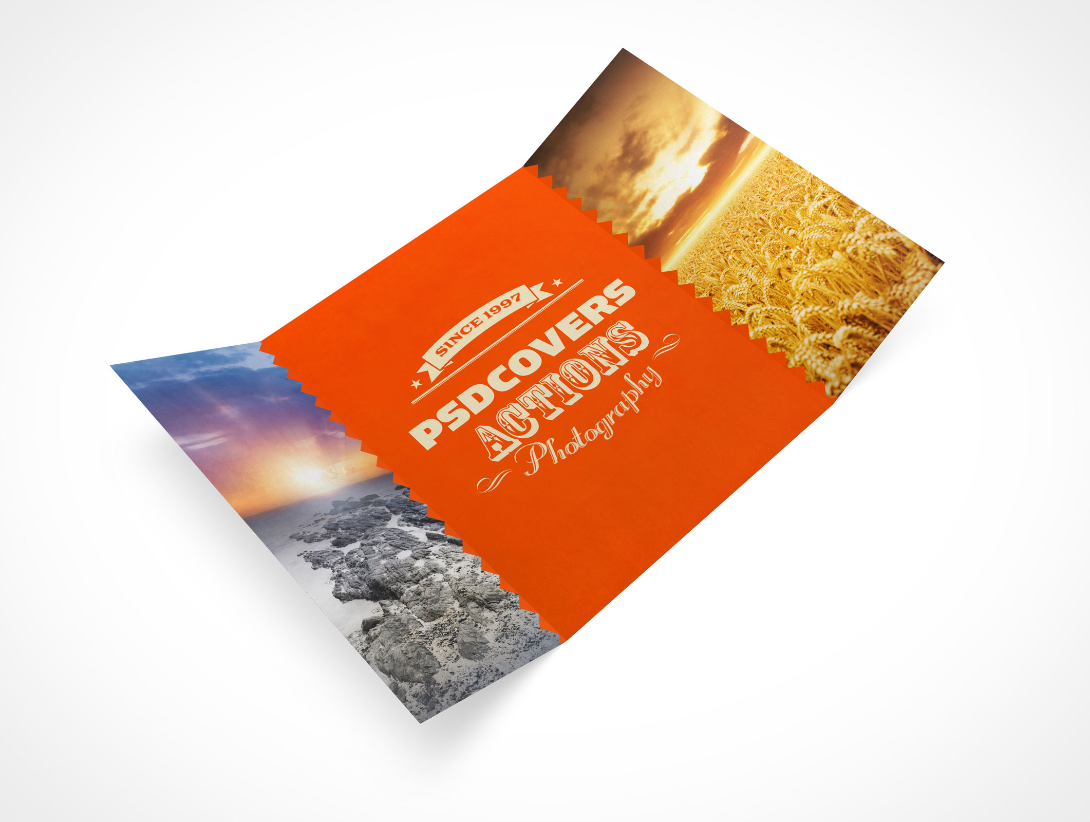 PSD Mockup 3 Panel Gate Fold Brochure Flyer Amazing Ideas