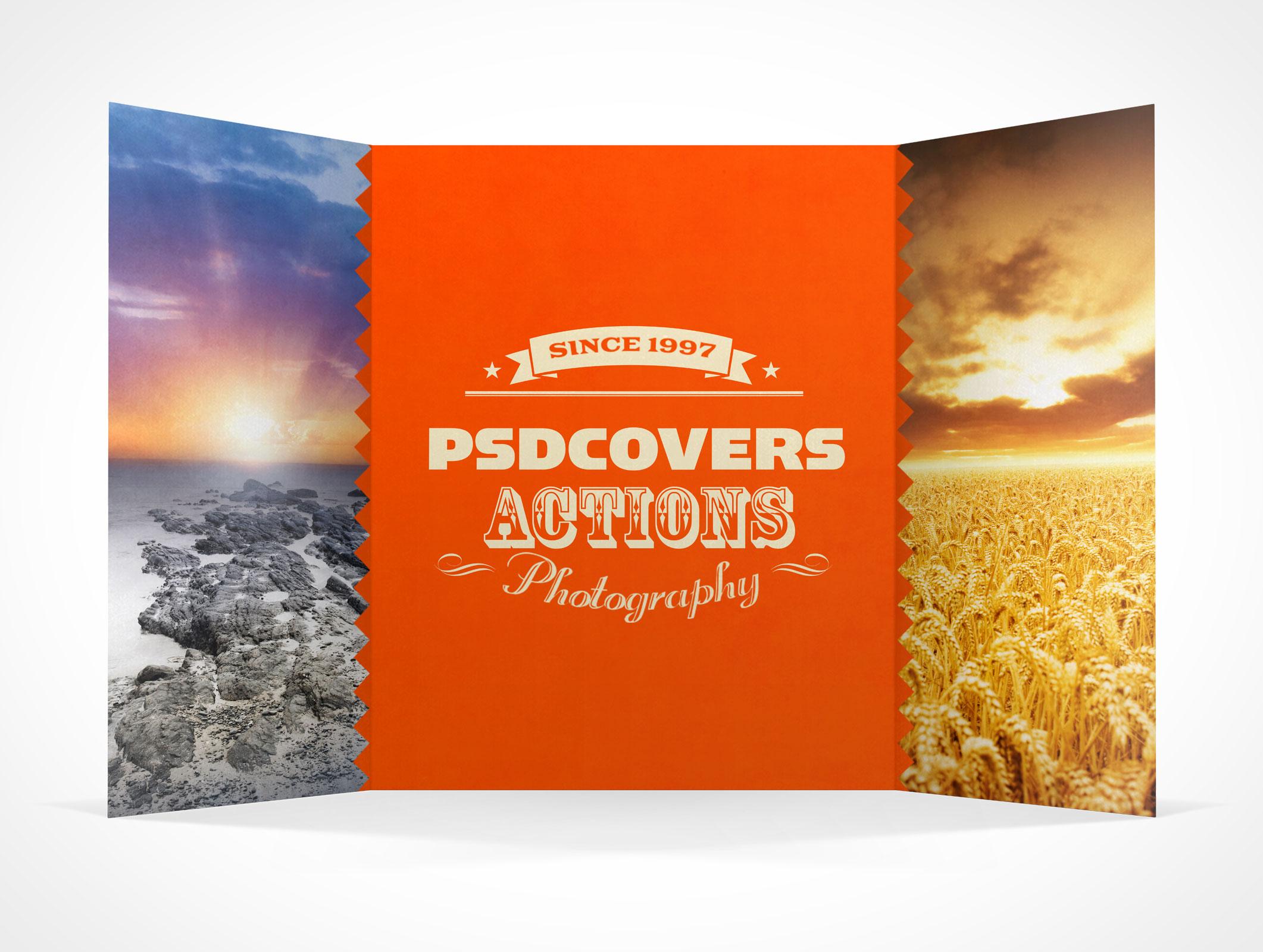 GATEFOLD004 Market Your PSD Mockups for gatefold – Gate Fold Brochure Mockup