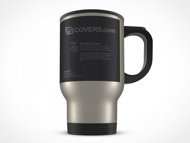 Stainless Steel Mug 14oz Thermos PSD Cover Action