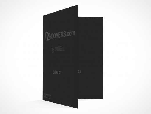 PSD Mockup seasons greeting holiday birthday card