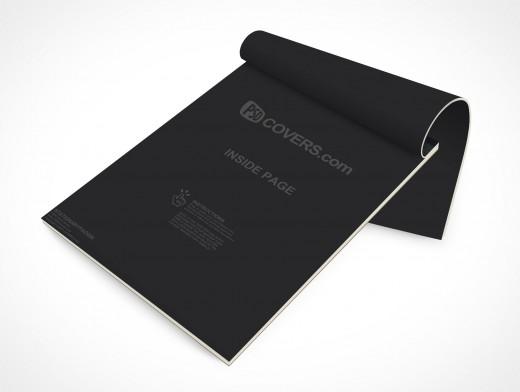 PSD Mockup Office Open Stationary Sketch Note Pad