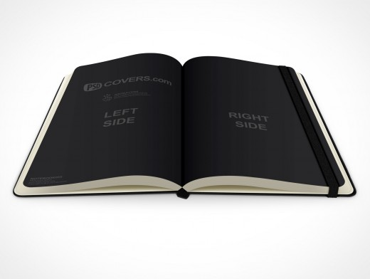 PSD Mockup hardcover moleskine notebook