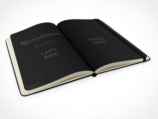 PSD Mockup hardcover moleskine 30 degrees
