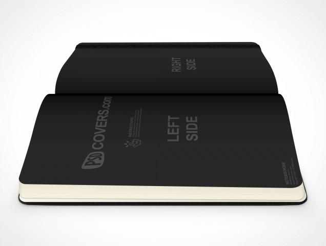 PSD Mockup hardcover moleskine side view