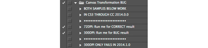 Canvas Transformation BUG expanded