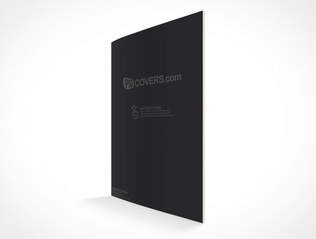 PSD Mockup Comic Book Quarter View