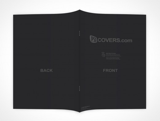 PSD Mockup Comic Book Face Down