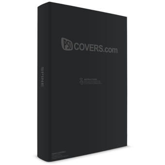 PSD Mockup standing with cover facing front