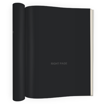 PSD Mockup with left pages rolled up