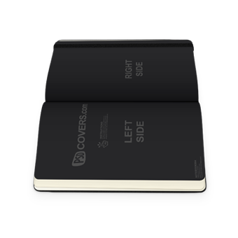 PSD Mockup sideview of open notebook