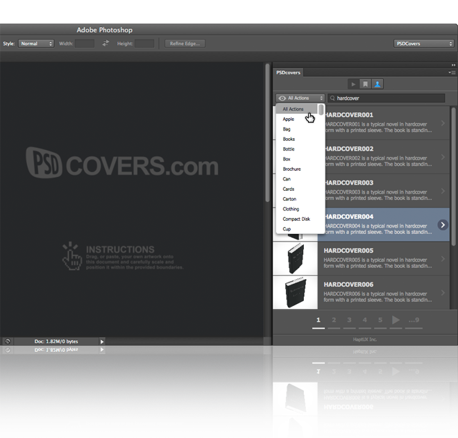 PSDCovers Full Keyword and Tag Search for Quick Discovery