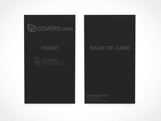 PSD Covers business card mockup portrait front view