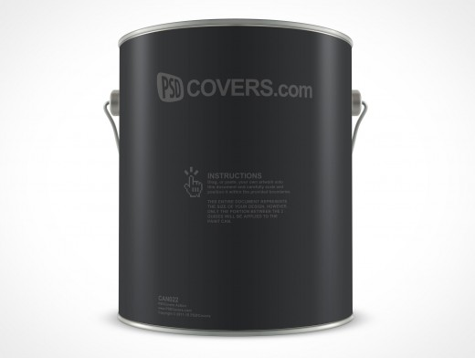 PSD 1 Gallon Paint Can Mockup