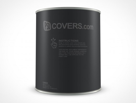 PSD 32oz Paint Can Mockup