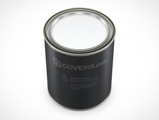 PSD Mockup 946mL Three Quarter Top View