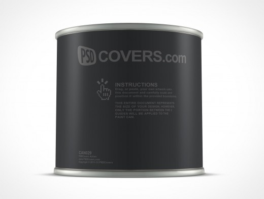 PSD 8oz Paint Can 1 US Half Pint Mockup