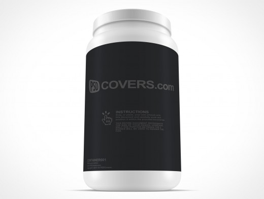PSD Mockup Protein Powder Container 81oz