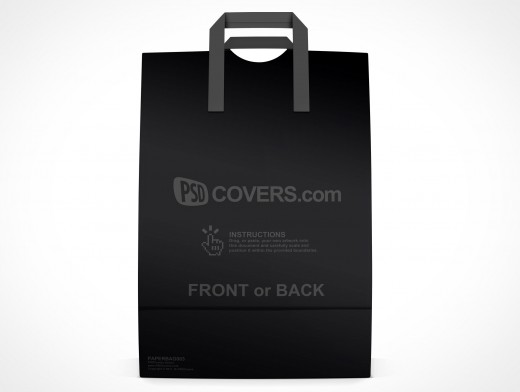 PSD Mockup Shopping Grocery Paper Bag facing forward