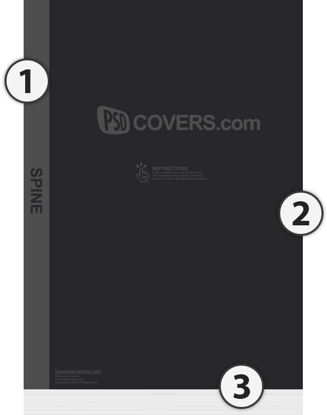 psdcovers step 1 sample template