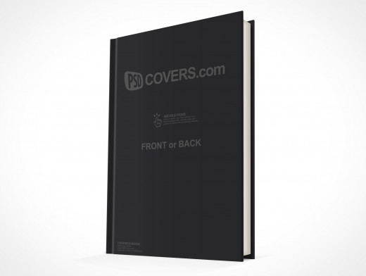 psdcovers standing hardbound book mockup