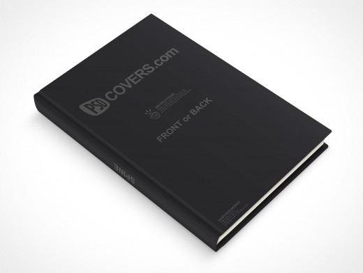 psdcovers laying down 45° hardbound book mockup