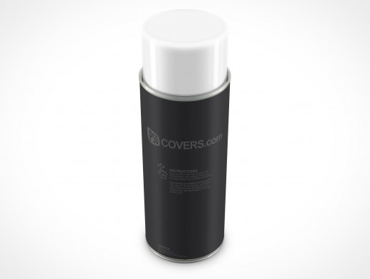 PSD Mockup Spray Can 340g 12ounce Above view