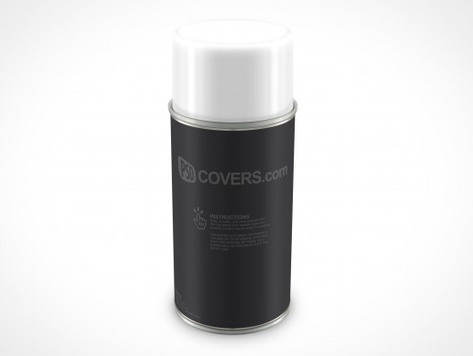PSD Mockup Spray Can 213g 8ounce forward