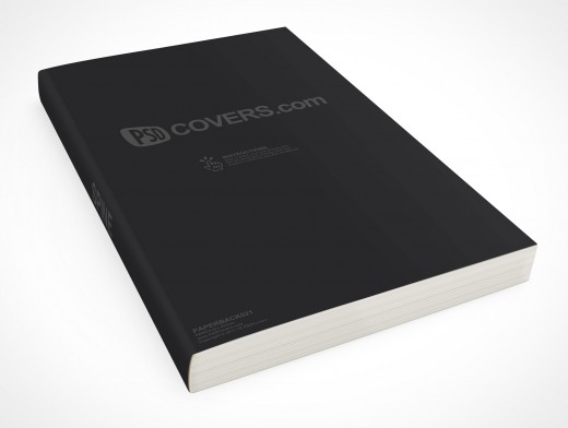 Paperback PSD Mockup C-Format Laying Flat Surface