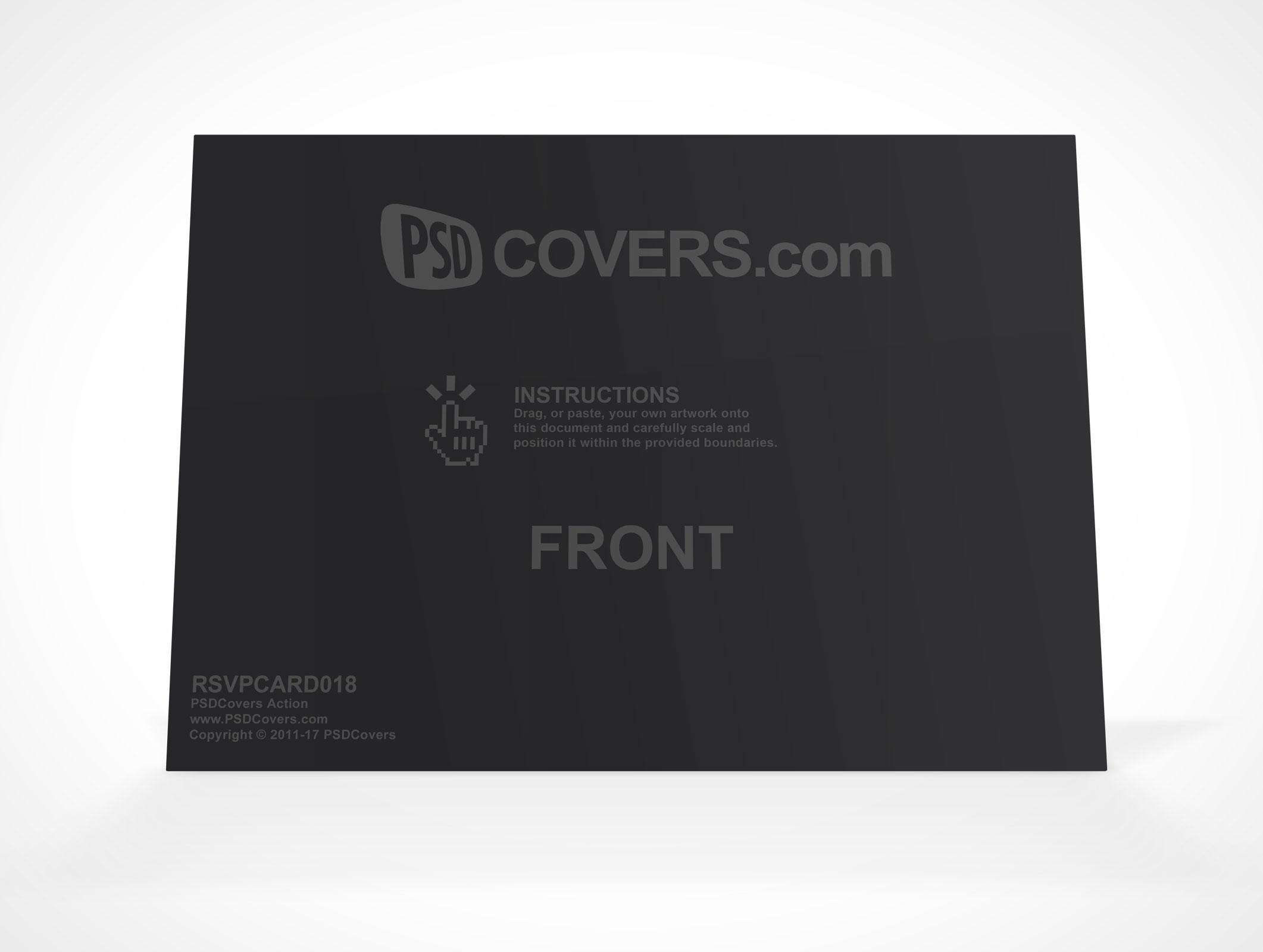 photoshop mockups for product presentation rsvp card landscape