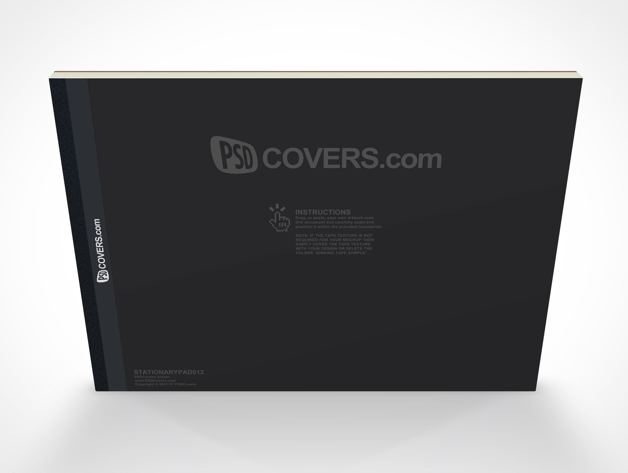 Psdcovers photoshop mockups for product presentation psd covers landscape stationery note pad fandeluxe Document