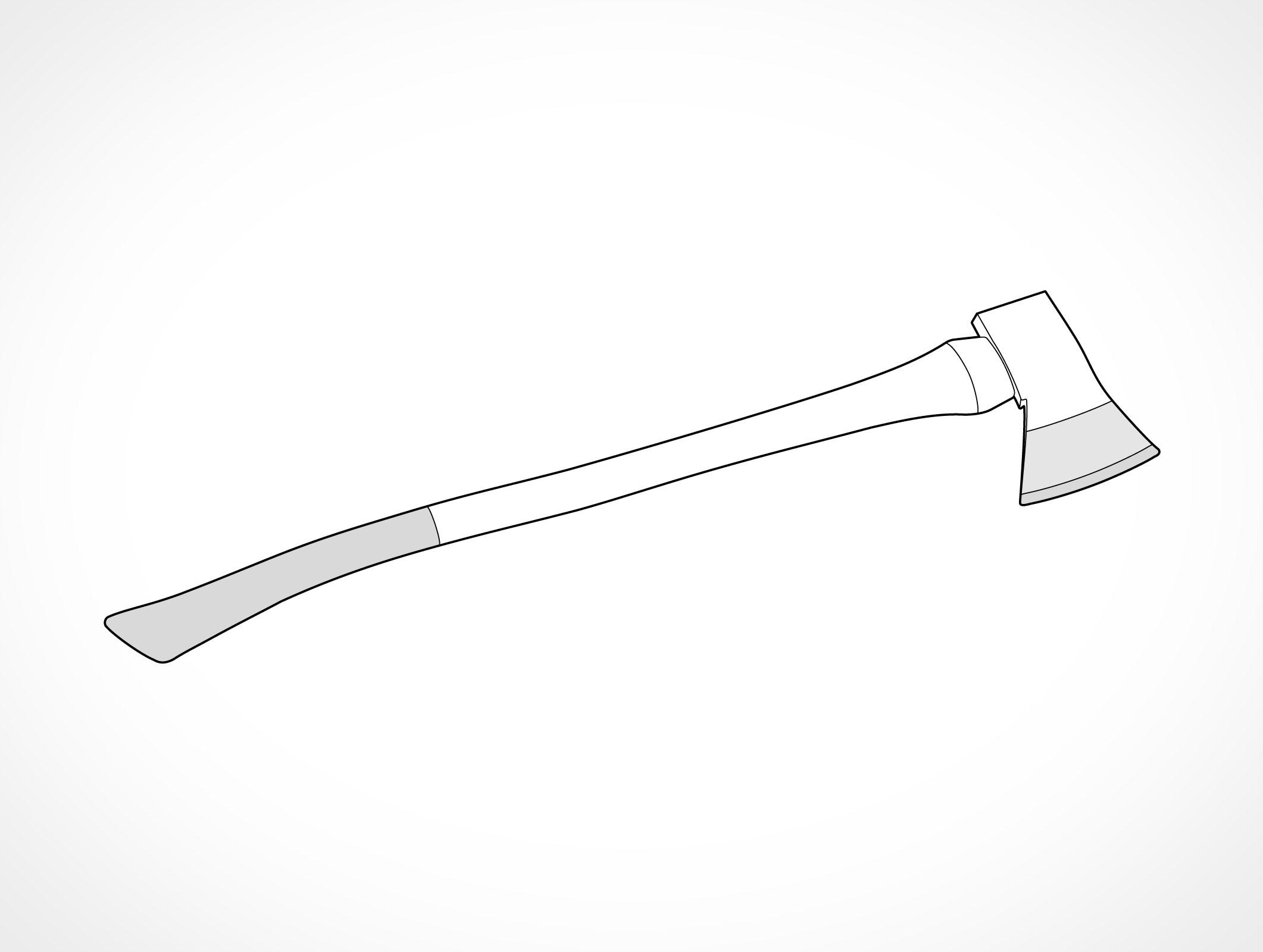 Ax Head Clip Art : Fire axe vector eps